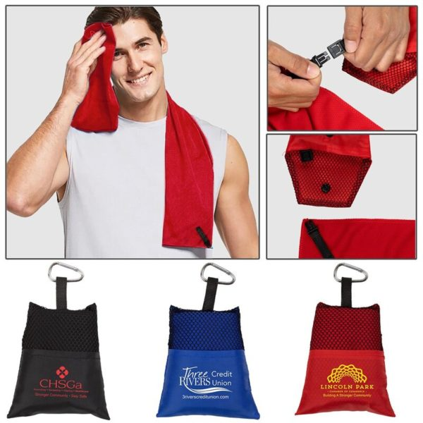 Cooling Towel Fold Up with Carabiner 17146